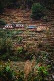 Nepalibergdorf lizenzfreies stockfoto