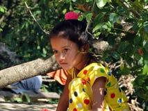Nepalies beby flicka Arkivfoto