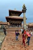 Nepalscy ludzie na ulicach Patan Fotografia Stock