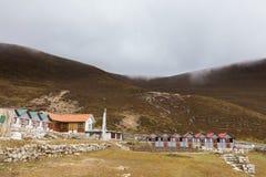 Nepalska górska wioska, Lungde Zdjęcie Royalty Free