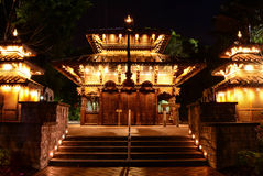 Nepalska pagoda przy południe bankiem, Brisbane fotografia stock