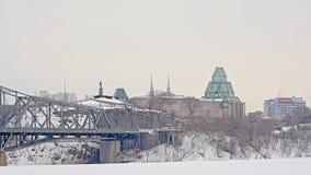 Nepean punkt i krajowa galeria na Ottawa końcówce Alexandra most obrazy stock