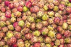 Nephelium lappaceum Rambutan fruit royalty free stock photos