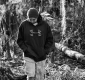 Nephew walking around Phinizy Swamp Stock Image