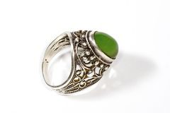 Nephrite ring with shadow Royalty Free Stock Image