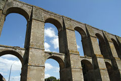 The nepi aqueduct. The roman aqueduct of the Roman Time in the town of Nepi, Italy Stock Photos