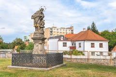 Nepomuk的圣约翰在Rokycany的 库存照片