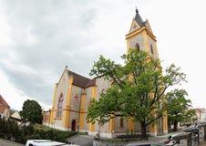 Nepomuk的圣约翰教会  库存照片