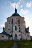 Nepomuk的圣约翰香客教会在Zelena Hora绿色山的在Zdar nad Sazavou,捷克,联合国科教文组织附近 库存照片