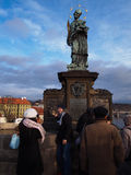 Nepomuk,布拉格的约翰雕象  免版税库存图片
