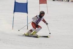 Nepovinnikh Lera on slalom-giant competition stock photos