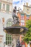 Neptun雕象在格但斯克,波兰 免版税库存图片