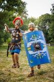 NEPTUN,罗马尼亚- 2015年7月28日-古老节日-再制定 库存图片