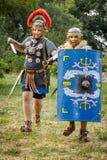 NEPTUN, ΡΟΥΜΑΝΊΑ - 28 Ιουλίου 2015 - αρχαίο φεστιβάλ - αναπαράσταση Στοκ Φωτογραφία
