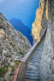 Neptun洞撒丁岛 免版税库存图片