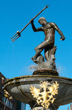 Neptun-5. Fountain from Neptuna's statue on old city in gdansk Royalty Free Stock Photos