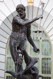 Neptun bronsstaty av Roman God av havet Arkivbilder