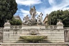 Neptun Brunnen #01 Stockbild