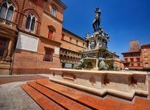 Neptun Brunnen, Bologna lizenzfreie stockbilder