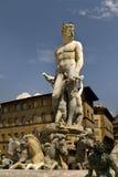 Neptun-Brunnen Florenz Italien Stockfotos