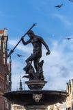 Neptun-Brunnen in Gdansk, Polen Lizenzfreie Stockbilder