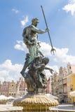 Neptun-Brunnen im Quadrat der alte Markt Stockbilder