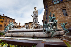 Neptun fontain in  Firenze, Italy Royalty Free Stock Photos