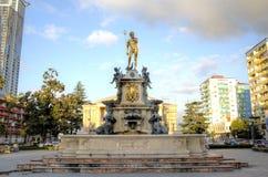 Neptun fontanna Batumi Gruzja Obraz Royalty Free