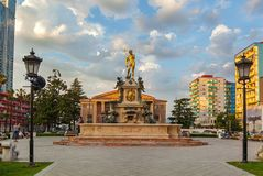 Neptun fountain Batumi, Georgia stock photos