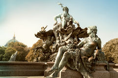 Neptun Fountain Berlin Stock Photography