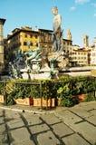 Neptun fountain in Florence, Italy Stock Photos