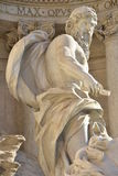 Neptun huvudsaklig staty av Trevi-springbrunnen i Rome, vid den Nicola Salvi arkitekten Royaltyfria Bilder