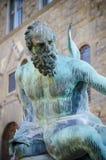 Neptun i Florence, Italien Arkivbilder