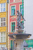 Neptun monument in Gdansk, Poland. Royalty Free Stock Image