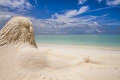 Neptun przy plażą   Obraz Royalty Free