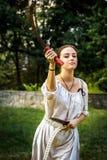 NEPTUN, ROMÊNIA - 28 de julho de 2015 - festival antigo - Reenactment Fotos de Stock