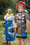 NEPTUN, ROMÊNIA - 28 de julho de 2015 - festival antigo - Reenactment Fotografia de Stock