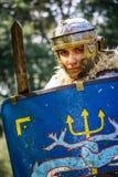 NEPTUN, ROMANIA - 28 luglio 2015 - festival antico - rievocazione Fotografia Stock Libera da Diritti