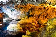 Neptun-` s Grotte in Sardinien, Italien Lizenzfreie Stockbilder