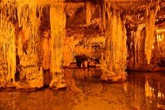 Neptun-` s Grotte in Sardinien, Italien Stockfotos