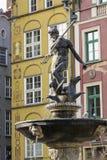 Neptun springbrunn Gdansk Royaltyfri Bild