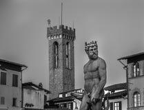Neptun-Statue in Florenz Lizenzfreies Stockfoto
