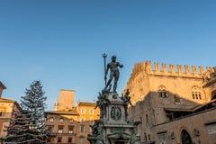 Neptun-Statue im Bologna, Italien Stockfoto