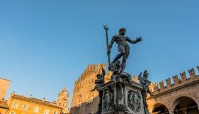 Neptun-Statue im Bologna, Italien Stockbilder