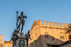 Neptun-Statue im Bologna, Italien Lizenzfreie Stockfotos