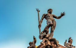 Neptun-Statue im Bologna, Italien Lizenzfreies Stockfoto