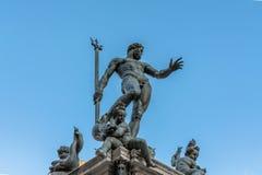 Neptun-Statue im Bologna, Italien Stockfotos