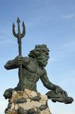 Neptun-Statue Virginia Beach Stockbild