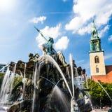 Neptunbrunnen柏林 库存图片