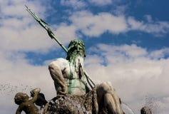 Neptunbrunnen (фонтан Нептуна) в Берлине Стоковое Фото